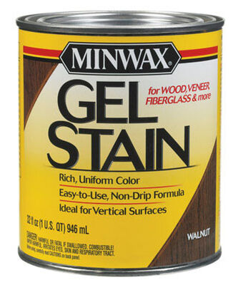 Minwax Transparent Oil-Based Gel Stain Walnut 1 qt.