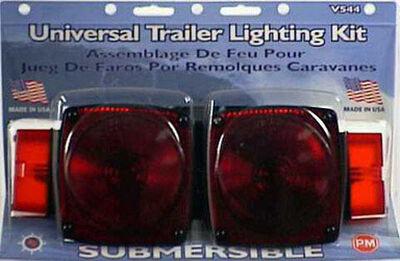 Peterson Plastic Combination Light Mounting Submersible Trailer Light Kit