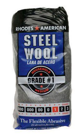 Rhodes American 3-1/4 in. W x 8-3/4 in. L Medium 1 Grade Steel Wool
