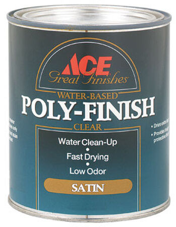Ace Indoor Clear Satin Water Based Poly-Finish 1 qt.