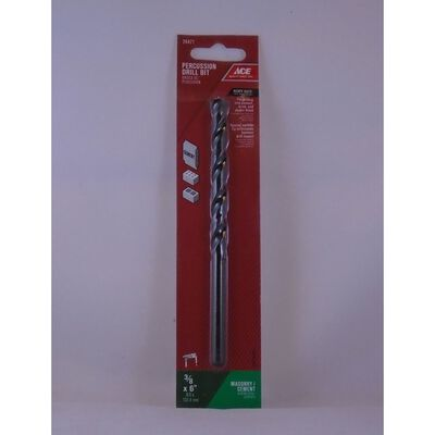Ace Steel Straight Shank 3/8 in. Dia. x 6 in. L Percussion Drill Bit 1 pc.