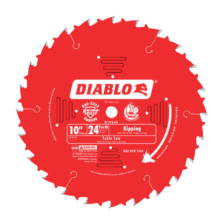 Freud Diablo 10 in. Dia. 24 teeth Carbide Tip Ripsaw Blade For Cutting Wood