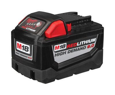 Milwaukee M18 High Demand 9.0 18 volts Red Lithium Battery Pack