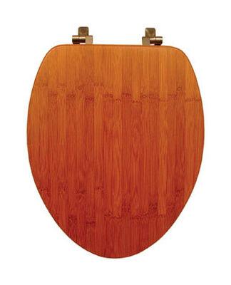 Mayfair Bamboo Toilet Seat Elongated Dark Bamboo
