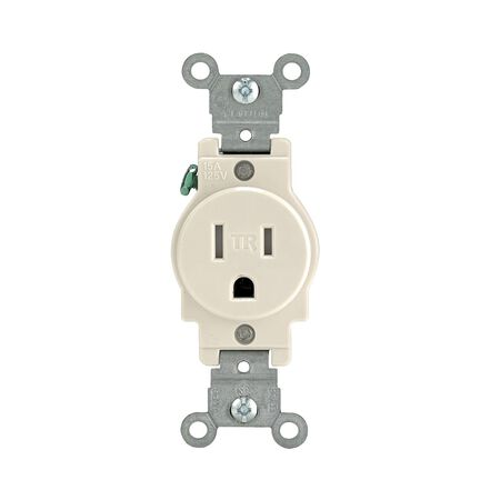 Leviton Electrical Outlet 15 amps 5-15R 125 volts Light Almond