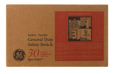 GE Double Pole 30 amps Fuse Safety Switch