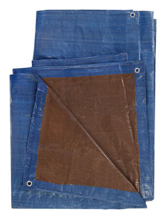 Ace Blue/Brown Medium Duty Tarp 10 ft. W x 20 ft. L