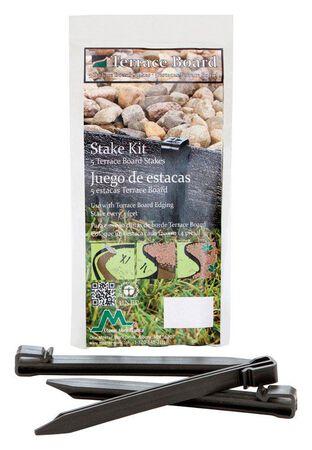 Master Mark Terrace Board Black Plastic Stake Kit