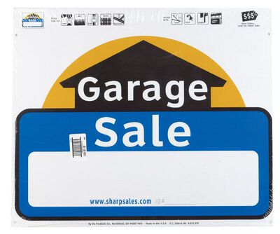Hy-Ko English 20 in. H x 24 in. W Plastic Sign Garage Sale