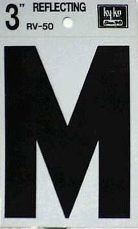 Hy-Ko Self-Adhesive Black 3 in. Reflective Vinyl Letter M