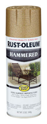 Rust-Oleum Stops Rust Gold Rush Gloss Hammered Spray 12 oz.