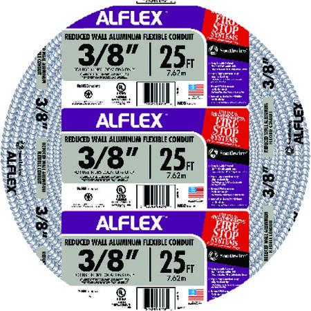Southwire 1/2 in. Dia. x 25 ft. L Flexible Electrical Conduit FMC PVC