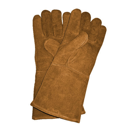 Panacea Brown Universal One Size Fits All Leather Heavy Duty Gloves