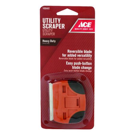 Ace 2.25 in. W Steel Dual Edge Butterfly Scraper