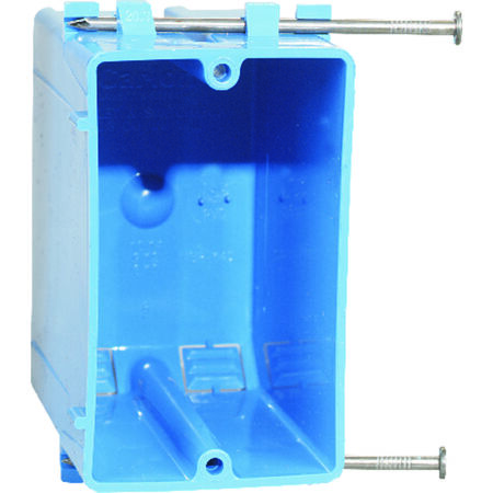 Carlon 4-3/16 in. H Rectangle 1 Gang Outlet Box Blue PVC