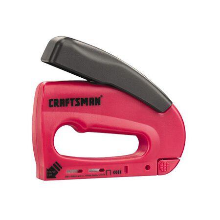 Craftsman .446 in. Light Duty Forward Action Stapler Red .5 lb.