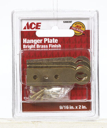 Ace 50 lb. Brass Plate Hanger Plate 4 pk