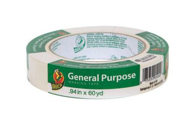 Duck 0.94 in. W x 60 yd. L General Purpose Masking Tape Regular Strength Beige 1 pk