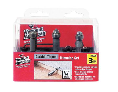 Vermont American Multi Size in. Dia. Carbide Tipped Router Bit Set