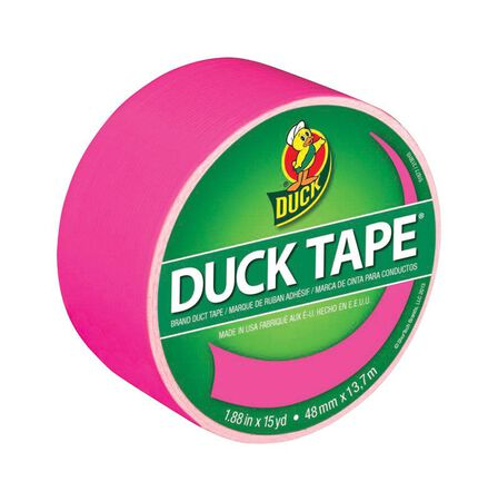 Duck Brand Duct Tape 1.88 in. W x 15 yd. L Pink
