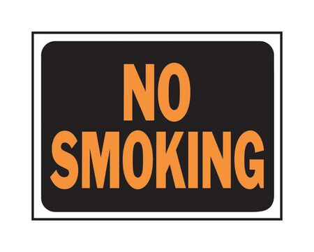 Hy-Ko English 9 in. H x 12 in. W Plastic Sign No Smoking