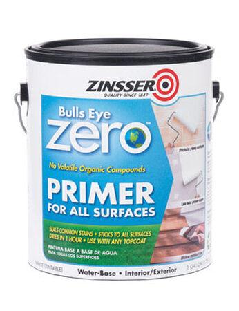 Zinsser Bulls Eye Zero Water-Based Interior and Exterior Primer 1 gal. White Smooth