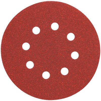 """5"""" 8 Hole 220 Grit Hook and Loop Random Orbit Sandpaper (25 pack)"""