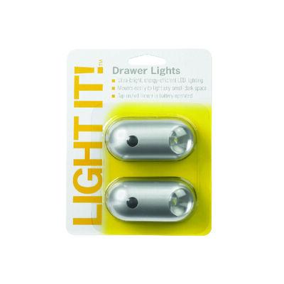 Fulcrum LIGHT IT Battery LED Tap Light Silver 6 lumens