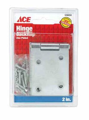 Ace 2 in. L Backflip Hinge Zinc