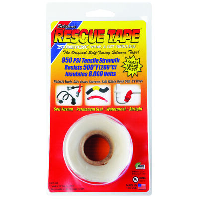 Rescue Tape 1 in. W x 12 ft. L Silicone Tape Clear