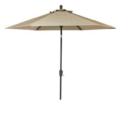 Living Accents Avalon 9 ft. Dia. Tiltable Patio Umbrella Brown