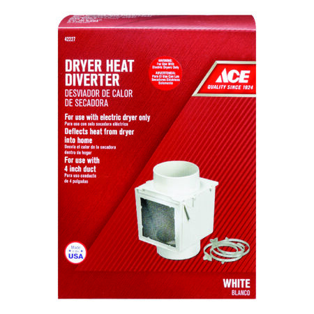 Ace 4 in. Dia. Heat Diverter White