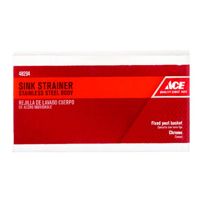 Ace 3-1/2 in. Dia. Sink Strainer Chrome
