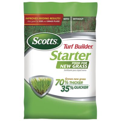 Scotts Turf Builder Starter Fertilizer New Grass 5000 sq. ft. Granules 24-25-4