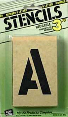 Hy-Ko Number and Letter Stencils Reusable Water Resistant 3 in.