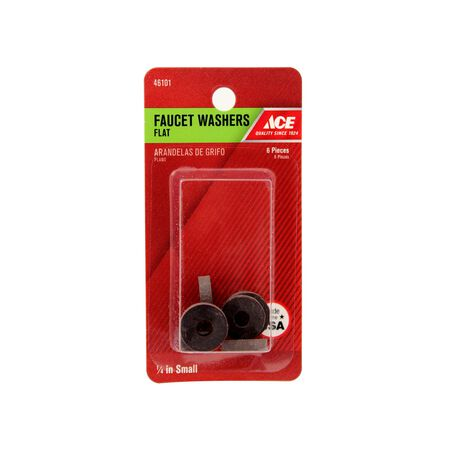 Ace 1/4 in. Dia. Synthetic Rubber Faucet Washer 6