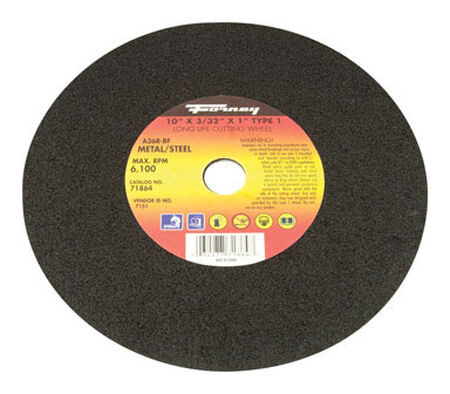 Forney 10 in. Dia. x 1/8 in. thick x 5/8 in. Metal Cutting Wheel