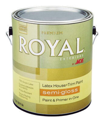 Ace Royal Acrylic Latex House & Trim Paint & Primer Semi-Gloss 1 gal. Ultra White
