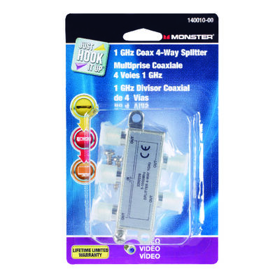 Monster Cable Four-Way Coax Cable Splitter 1