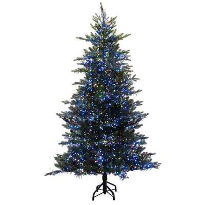 Holiday Bright Lights National Lampoon's Griswold's 7 ft. Multicolored Prelit Fir Artificial Tre