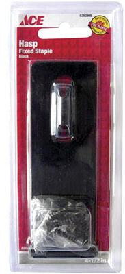 Ace Black Steel Fixed Staple Safety Hasp 4-1/2 in. L