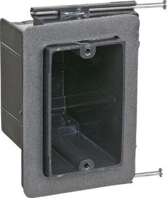 Carlon 3-5/8 in. H Rectangle 1 Gang Electrical Box Black Plastic