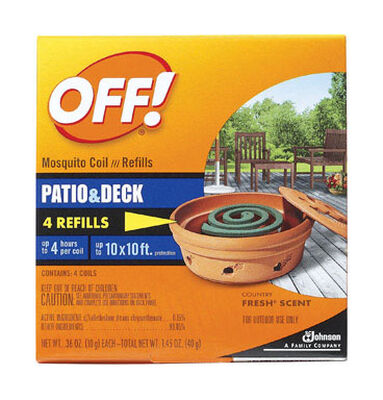 OFF! Mosquito Repellent D-Trans Allethrin Coils 5 oz.