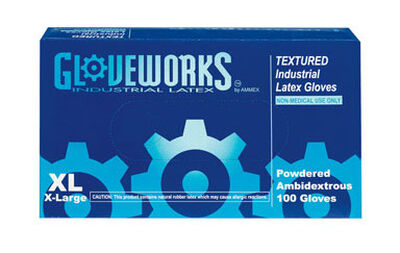 Gloveworks Latex Gloves Extra Large 100 pk Ivory