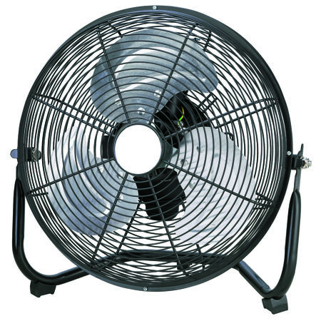 Aire One High Velocity Fan 12 in. Dia. AC 3 blade Black
