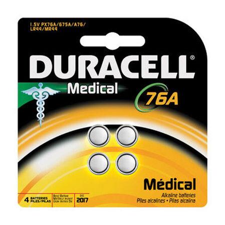Duracell 76A Alkaline Medical Battery 1.5 volts 4 pk