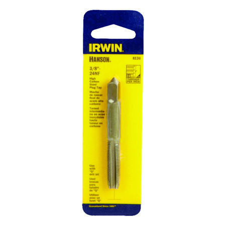 Irwin Hanson High Carbon Steel 3/8 in.-24NF SAE Fraction Tap 1 pc.