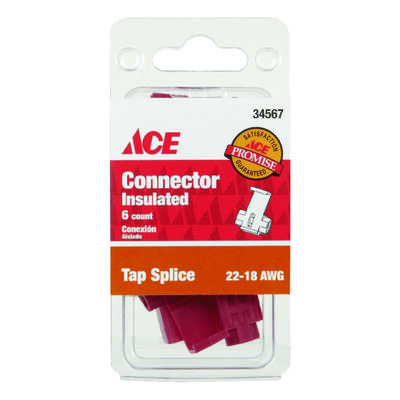 Ace Industrial Tap Splice Connector Copper 6 Red