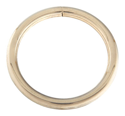 Campbell Chain Nickel Steel Welded Ring Silver 200 lb. 2 in. L 1 pk