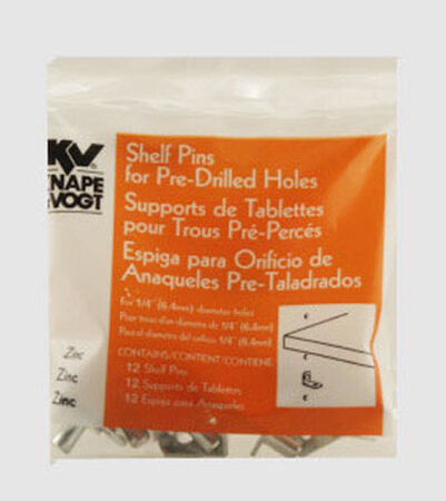 Knape & Vogt Steel Anochrome Shelf Supports Shelf Support Clip